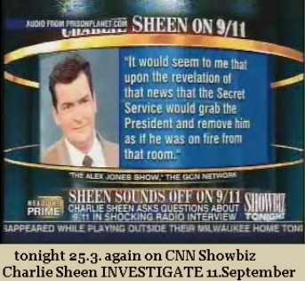 Charlie Sheen on CNN 3 Days 9/11 is igniting interest in the truth